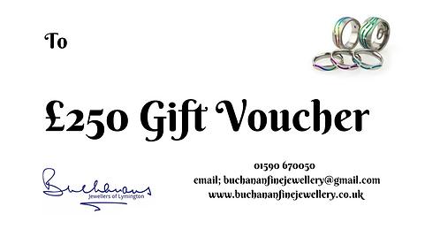 Buchanans Gift Voucher £250