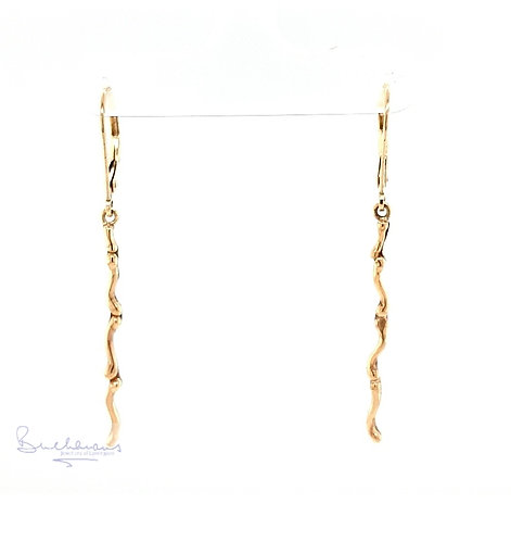 Leucothea 9ct Yellow Gold Bar Earrings
