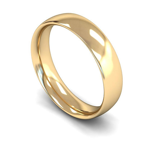 18ct Yellow Gold 5mm Traditional Court Medium