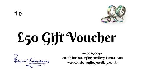 Buchanans Gift Voucher £50