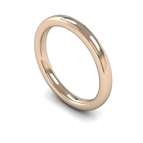 18ct Rose Gold 2.5mm Slight Court Heavyweight