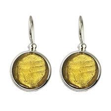 Gabriella Nanni Sterling Silver Round Earring Oro