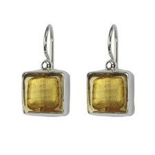 Gabriella Nanni Sterling Silver Square Earring Oro