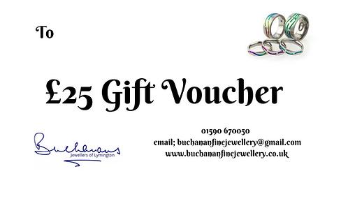 Buchanans Gift Voucher £25