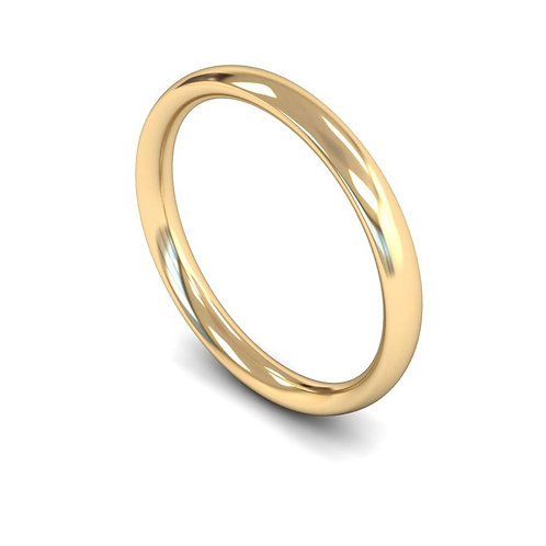 copy of copy 18ct Yellow 2.5mm Traditional Court Medium