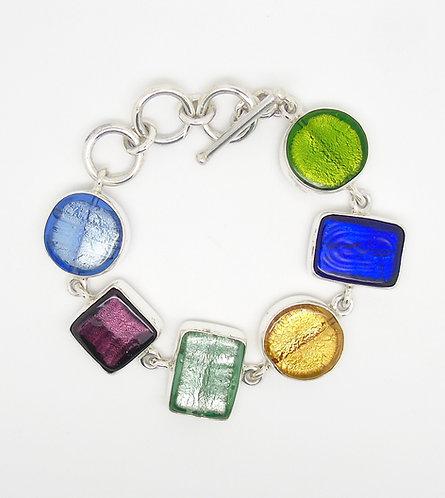 Gabriella Nanni Sterling Silver Multicolour Bracelet