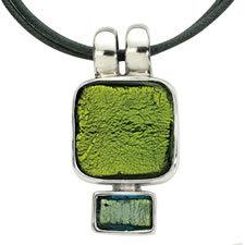 Gabriella Nanni Sterling Silver Square Pendant Verde/Aqua