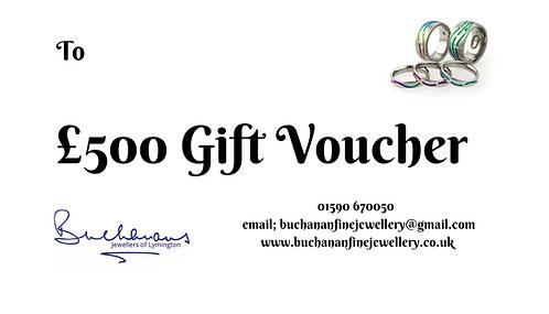Buchanans Gift Voucher £500