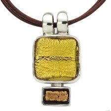 Gabriella Nanni Sterling Silver Square Pendant Oro/Oro Antica