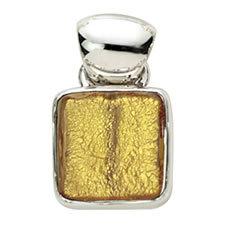 Gabriella Nanni Sterling Silver Square Pendant Oro