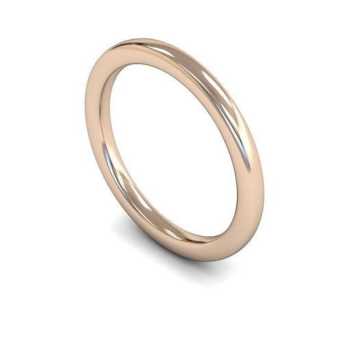 9ct Rose Gold 2mm Slight Court Heavyweight