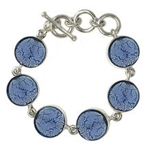 Gabriella Nanni Sterling Silver Round Bracelet Celeste
