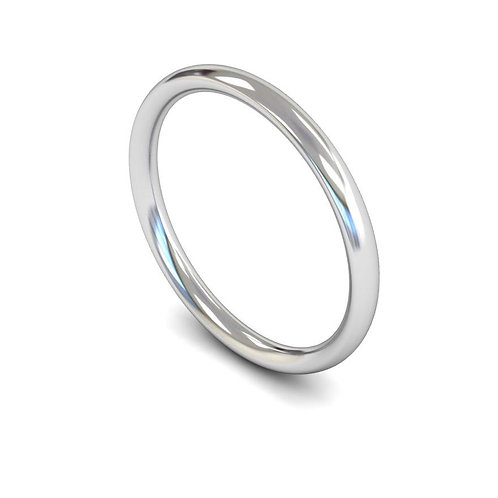 copy of copy 9ct White Gold 2mm Traditional Court Medium
