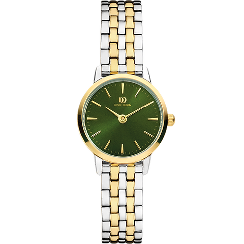 Akilia Mini Link Two-Tone Gold Green