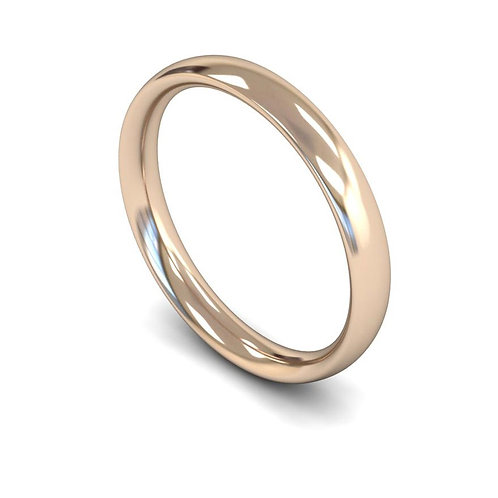 copy 18ct Rose Gold 3mm Traditional Court Medium