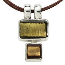 Gabriella Nanni Sterling Silver Rectangular Square Oro/Oro Antica