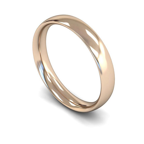 18ct Rose Gold 4mm Traditional Court Medium