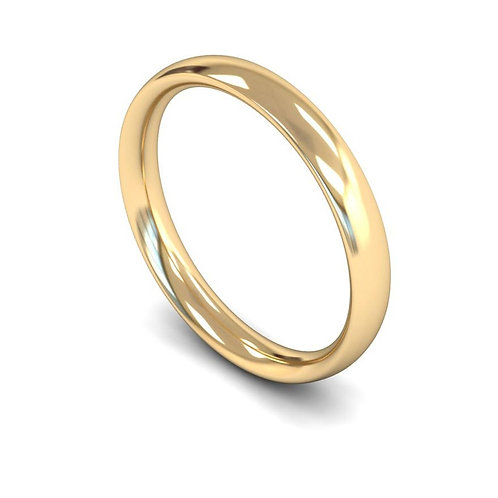 copy 18ct Yellow Gold 3mm Traditional Court Medium