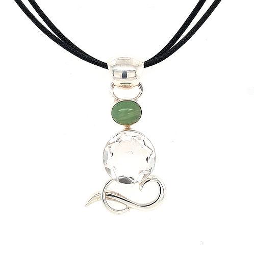 Gabriella Nanni Storie di Mare Rock Crystal and Opal Pendant