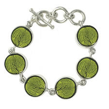 Gabriella Nanni Sterling Silver Round Bracelet Verde Erbe