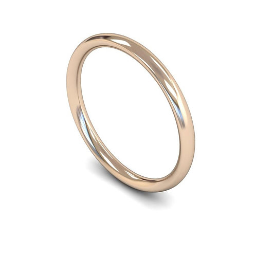 copy of copy 18ct Rose Gold 2mm Traditional Court Medium