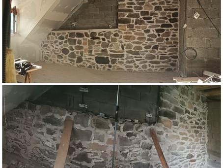 Mur intérieur pour future chambre