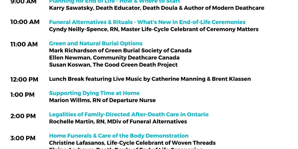 Modern Deathcare Expo Speaker Schedule