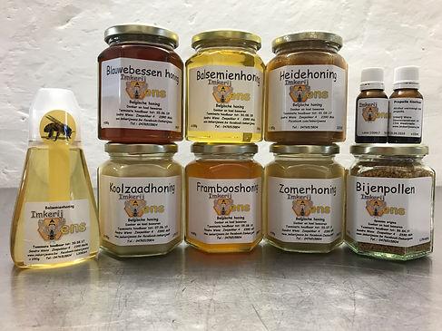 heidehoning koolzaadhoning zomerhoning balsemienhoning fruithoning honing