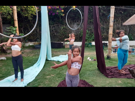 Sensory and Cognitive Benefits of Aerial Yoga for kids