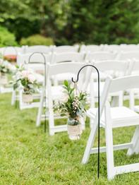 Wedding Ceremony Aisle decor - Barn on Bridge - Andrea Krout Photography
