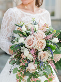 Bride with bouquet - Stacey Lynn Photography