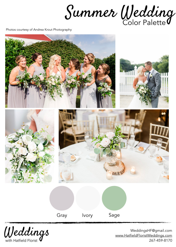 Hatfield Florist wedding summer color pa