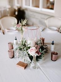 Wedding reception centerpiece - Bluestone Country Club - Jieru Photography