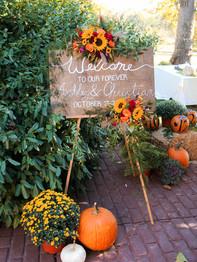 Welcome Sign - Joseph Ambler Inn - Megan Leigh Photography