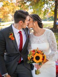 Happy couple - Joseph Ambler Inn - Megan Leigh Photography