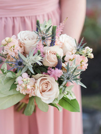 Bridesmaid holding bouquet - Stacey Lynn Photography