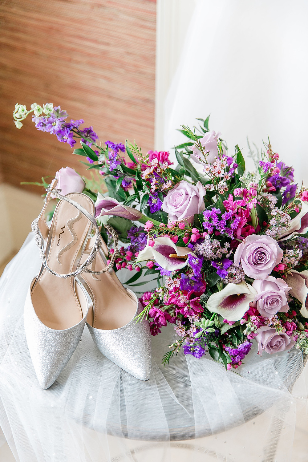 Bridal bouquet with shoes