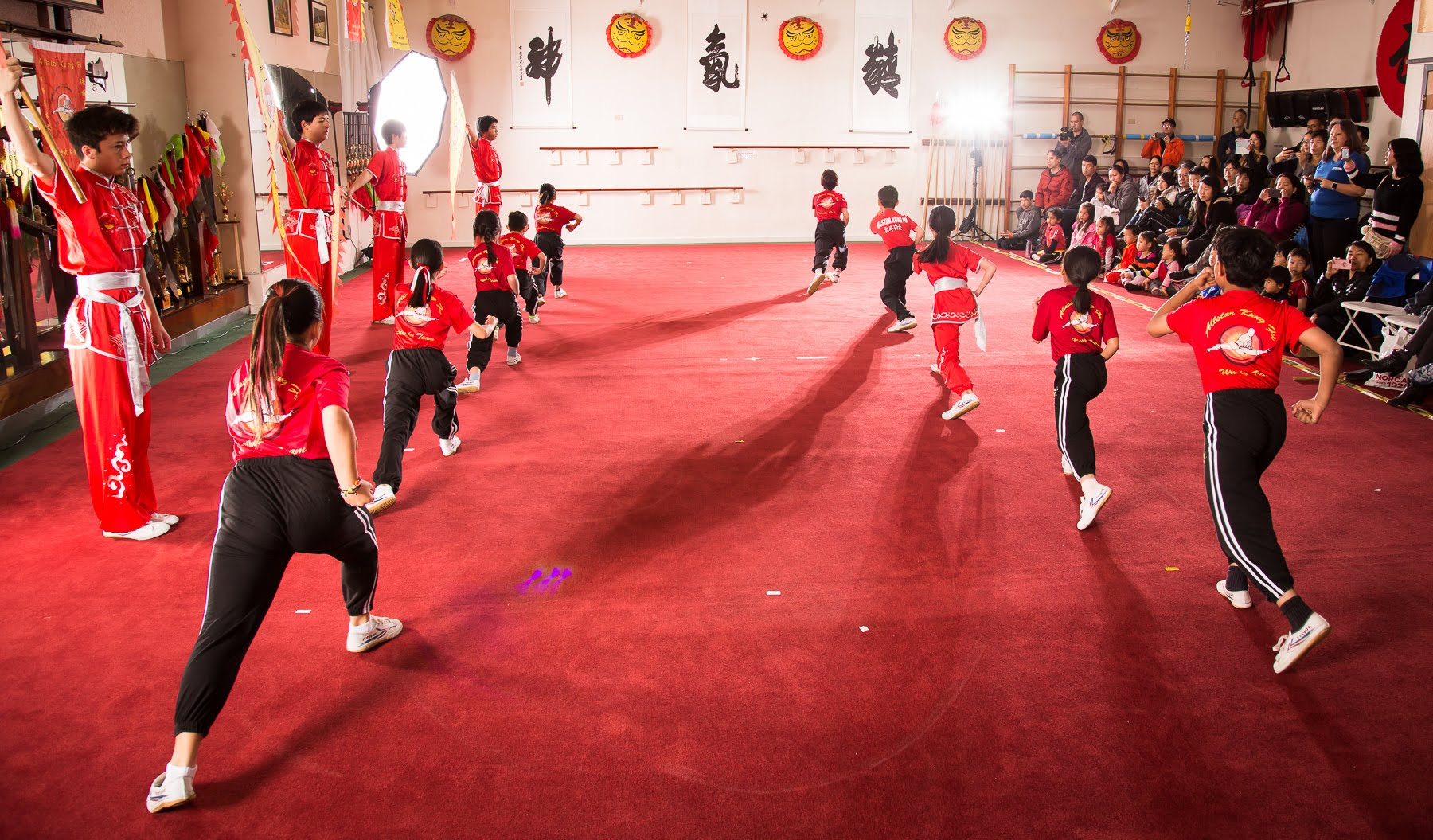 Wushu Team Performance
