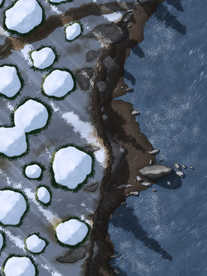 Moonlight_Maps_Coastal_Forest_Snow02_18x