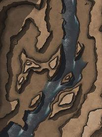 Moonlight_Maps_Canyon_Pass_River04_18x22