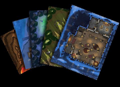 Moonlight Maps Battle Map Cards