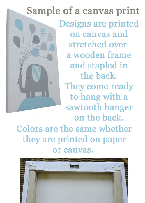 Bring These Adorable Elephants To Life In Your Baby S Nursery With This Set Of 6 Prints By Sweet Pea Art You Can Change The Colors Match