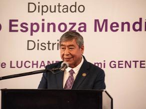 Presenta Lázaro Espinoza su Segundo Informe de Actividades Legislativas