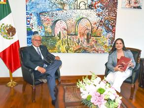 Recibe Celida López a Gobernador de Baja California en Hermosillo