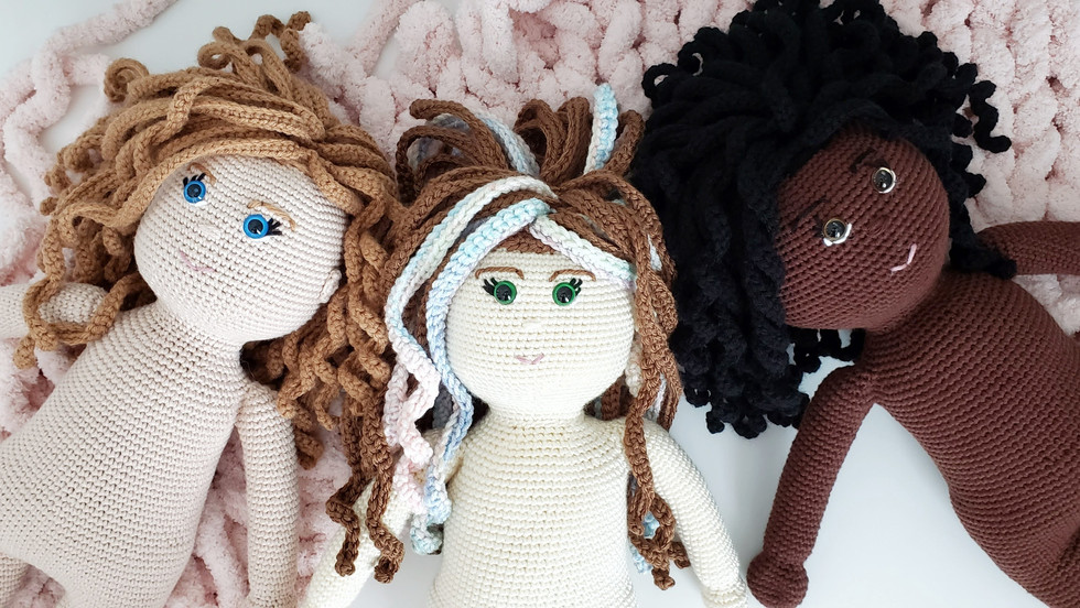 """How to Crochet an """"American Girl"""" Sized 18 Inch Doll"""