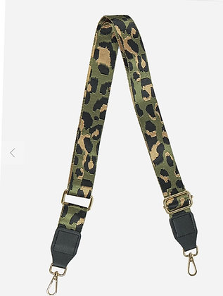 Bag Strap Khaki Leopard Spot