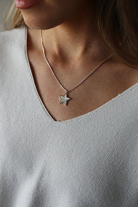 Tutti and Co MidnightNecklace Silver