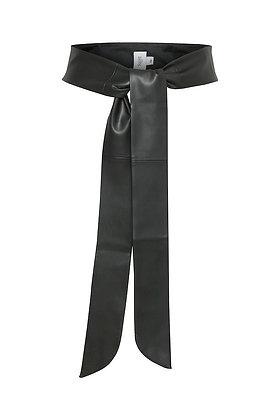 Saint Tropez Soft Tie Belt Black