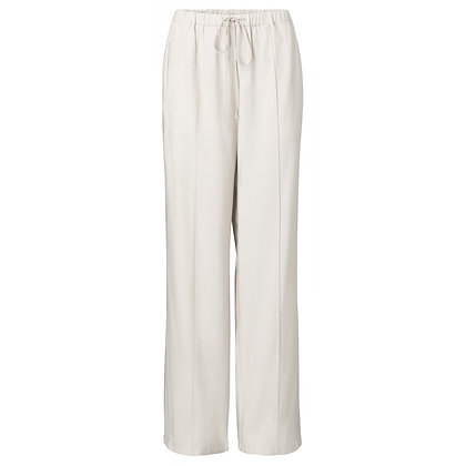 Yaya Relaxed Fit Wideleg Trousers Pebble