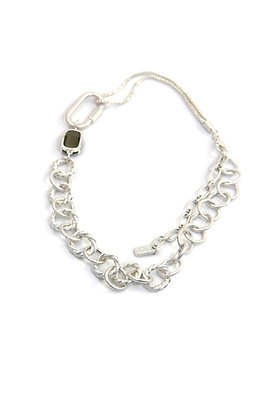 Envy Statement Chain Necklace Silver